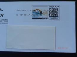 Natation Swimming Timbre En Ligne Sur Lettre (e-stamp On Cover) TPP 3257