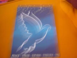 Christmas Noel Unicef Greeting Card From Greece (pigeon Bird Peace) - Noël