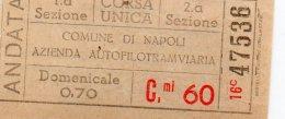 COMUNE DI NAPOLI AZIENDA FILO TRAMVIARIA - Tramways