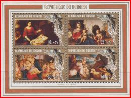 Burundi BL 0121**  Noel II Tableaux MNH - 1980-89: Neufs