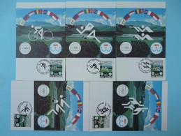 Jeux Olympiques Petits Etats D'Europe Small States Olympic Games 1985 X5 Carte Maximum Card Saint Marin San Marino - FDC