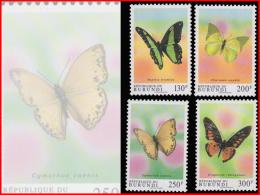 Burundi 1029/32**/MNH   Papillons