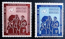 PROTECTION DES REFUGIES 1953 - NEUFS ** - YT 15/16 - MI 19/20 - New York - Sede De La Organización De Las NU