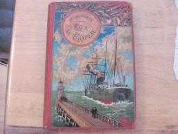 Jules Verne Hetzel Steamer Voyages Extraordinaires Face Au Drapeau Magnier Fils Rel - Livres, BD, Revues