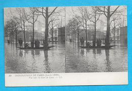75-PARIS-inondations De Paris-(1910) Vue Vers La Gare De Lyon-cpa Non écrite - Paris Flood, 1910