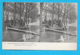 75-PARIS-inondations De Paris-(1910) Ambarcation Avenue D'Antin-cpa Non écrite - Paris Flood, 1910