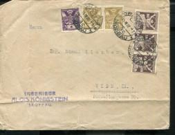 CZECHOSLOVAKIA 1922 OLD INFLA COVER ALOIS KÖNIGSTEIN TROPPAU - Cartas