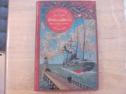 Jules Verne Hetzel Steamer Aventures De Trois Russes Et De Trois Anglais Dans L Afrique Australe GU 1893 - Livres, BD, Revues