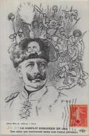 CPA Satirique Caricature Guerre 14-18 Patriotique Germany Kaiser Circulé REGAMEY - Satirical