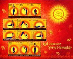 NA0226 India 2016 Yoga S/S MNH - Unused Stamps