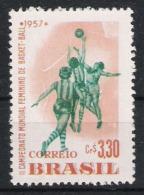 Brasilien Brasilia 1957 Mi# 916 ** MNH Sport Basketball - Basketball