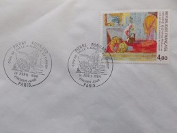 Art - Peinture Moderne - PIERRE BONNARD - Coin De Salle A Manger Au Cannet - N° 2301 - Cachet Rond Premier Jour 1984 - Used Stamps