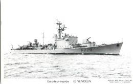 ESCORTEUR RAPIDE LE VENDEEN PHOTOGRAPHE TOULON MARIUS BAR NAVIRE DE GUERRE PAQUEBOT BOAT TRANSPORT BATEAU - Warships