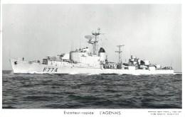 ESCORTEUR RAPIDE L'AGENAIS PHOTOGRAPHE TOULON MARIUS BAR NAVIRE DE GUERRE PAQUEBOT BOAT TRANSPORT BATEAU - Warships