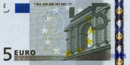 EUROPEAN MONETARY UNION 5 EURO 2002 P-8p UNC  (NETHERLANDS) CODE LETTER: E [EU101p2] - EURO