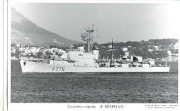 ESCORTEUR RAPIDE LE BEARNAIS PHOTOGRAPHE TOULON MARIUS BAR NAVIRE DE GUERRE PAQUEBOT BOAT TRANSPORT BATEAU - Warships