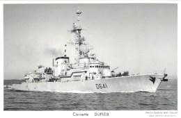 CORVETTE DUPLEIX PHOTOGRAPHE TOULON MARIUS BAR NAVIRE DE GUERRE PAQUEBOT BOAT TRANSPORT BATEAU - Warships