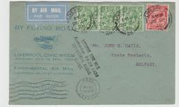 GBG047 / Experimental Airmail Liverpool - Belfast 26.9.28 - Briefe U. Dokumente