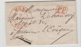 B059 / Mons 1836, Franco  Fontaine (PP) - 1830-1849 (Unabhängiges Belgien)