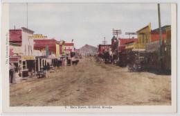 GOLDFIELD (NV - Nevada) - Main Street - Hôtel Esmeralda - Chercheur D´or - Gold Digger - Real Picture Postcard - Verenigde Staten
