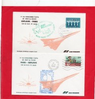 2 Plis ( 1° Vol Concorde F.BVFA  PARIS - KEFLAVIK Et Retour )