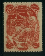VIGNETTE   EXPOSTION  INTERNATIONALE  ST-ETIENNE  1904 - Erinnophilie