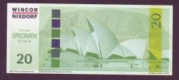 """Test Note  """" Wincor-Nixdorf""""-CI Tech  20  Euro,04.12.2004, W.serialno,  Both Sides UNC, Rare - EURO"""