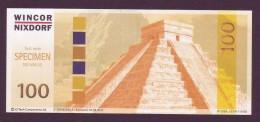 """Test Note  """" Wincor-Nixdorf""""-CI Tech  100  Euro,04.12.2004, W.serialno,  Both Sides UNC, Rare - EURO"""