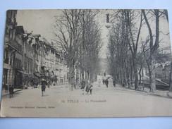 CPA TULLE 19 LA PROMENADE 1912 - Tulle