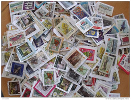 LOT 500 GRAMMES TIMBRES COLLECTION ILES BRITANNIQUES  MAN - Timbres