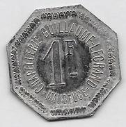 1 Franc CHAPELLERIE GUILLAUME-LEGRAND -MAUBEUGE - Professionals / Firms
