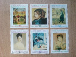 BULGARIA 1991 CULTURE Art Paintings Of FRENCH IMPRESSIONISTS - Fine Set MNH - Neufs