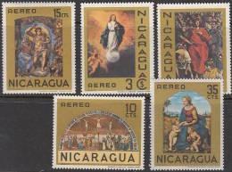 Nicaragua 1968: Michel-No. 1479-83+Bl.67 Michelangelo Raffael El Greco Murillo Dali - Religious