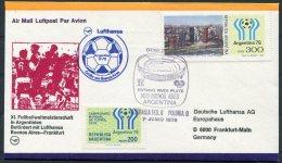 1978 Argentina Football World Cup, Germany Lufthansa Flight Cover, Germany 0 V Poland 0 - Argentine