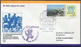 1978 Argentina Football World Cup, Germany Lufthansa Flight Cover, Tunisia 3 V Mexico 1 - Argentina
