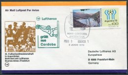 1978 Argentina Football World Cup, Germany Lufthansa Flight Cover, Peru 3 V Scotland 1 - Argentina