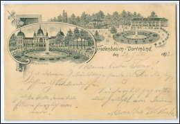 N7183-4600/ Fredenbaum Dortmund 1893 Litho AK - Deutschland