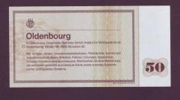 "Test Note  "" Oldenbourg "" 50 DM, Both Sides , UNC Rare - EURO"