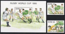 Irland 1995 Mi# 894-96 Bl 16 ** MNH Sport Rugby - Rugby