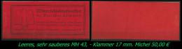 Sauberes Leeres MH - Mi. Nr. 43 - Erhaltung Siehe Scan - Cuadernillos