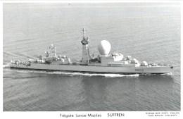 FREGATE LANCE MISSILES SUFFREN PHOTOGRAPHE TOULON MARIUS BAR NAVIRE DE GUERRE PAQUEBOT BOAT TRANSPORT BATEAU - Warships