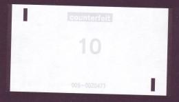 "Test Note  "" NCR"" 10 Euro,Type C,counterfeit Both Sides ,UNC Extremly Rare - EURO"