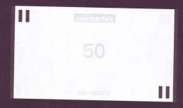 "Test Note  "" NCR"" 50 Euro,Type C,counterfeit Both Sides ,UNC Extremly Rare - EURO"