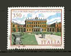 ITALIA -  Ville D´Italia  7a Serie - Villa Borromeo Cassano D´Adda 1 Val.  USATO  Del  1.10.1986 - 1981-90: Afgestempeld