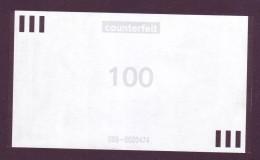"Test Note  "" NCR"" 100 Euro,Type C,counterfeit Both Sides ,UNC Extremly Rare - EURO"
