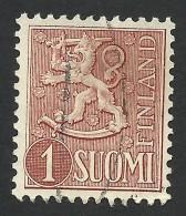 Finland, 1 M. 1955, Sc # 312, Mi # 425, Used, - Finland
