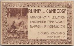 CARNET 12 CPA CAMBODGE CAMBODIA Ruines Angkor Vath