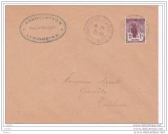 1930 - Exposition Philatélique De Limoges, Enveloppe Vers Toulouse - Timbre Orphelins YT 148 Seul - Au Verso Griffe A-11 - France