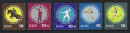 DDR 1965 Mi# 1133-37 ** MNH Sport Fünfkampf Reiten Pferde Fechten Schwimmen Schiessen Laufen - Autres
