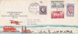 Ross Dependency 1958  Commemorating The First Trans-Antarctic Crossing Ca Antarctic Meeting 20 Ja 58 Scott Base (F5778) - Ross Dependency (Nieuw-Zeeland)